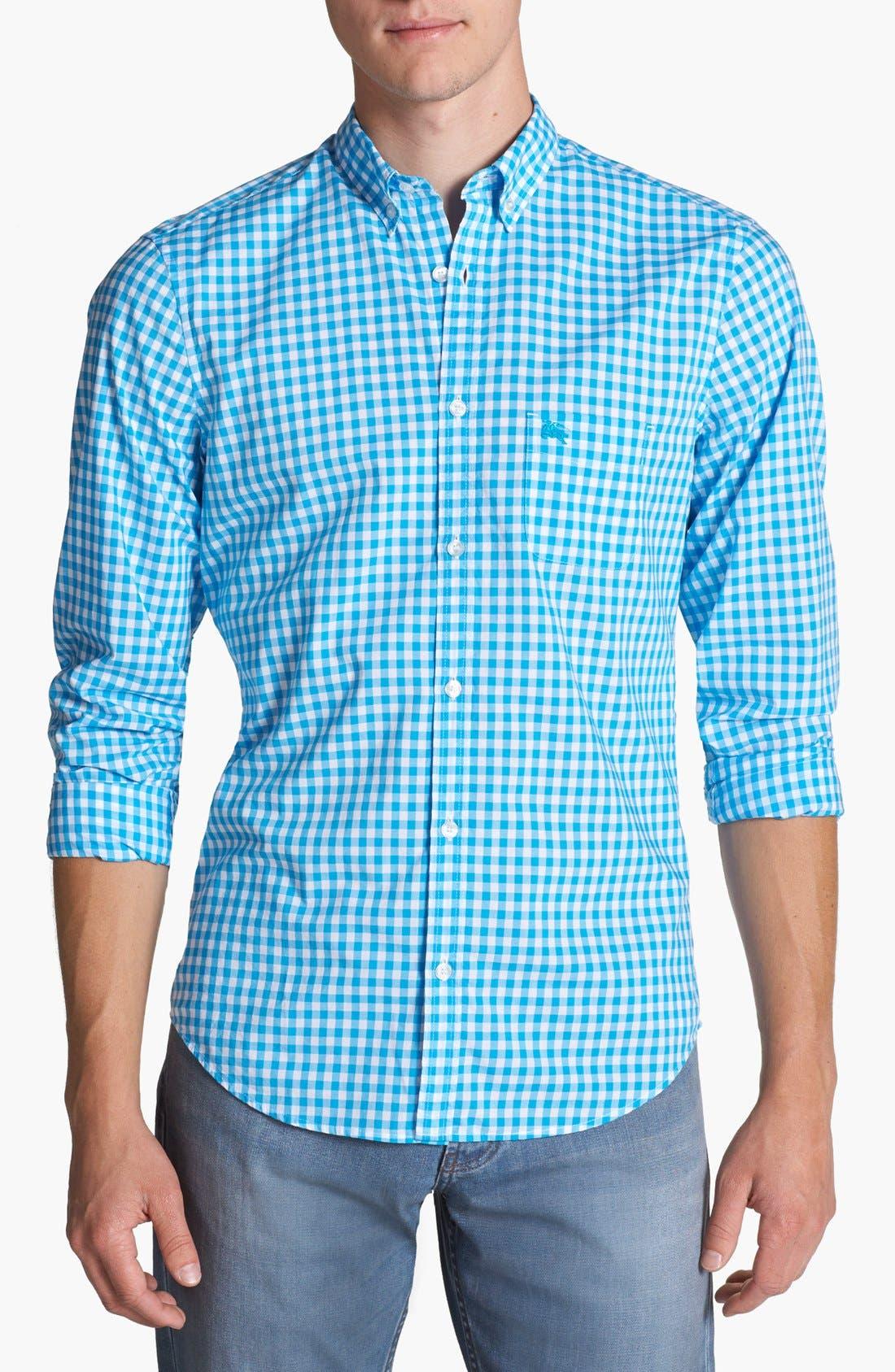 Main Image - Burberry Brit 'Adken' Gingham Trim Fit Cotton Sport Shirt