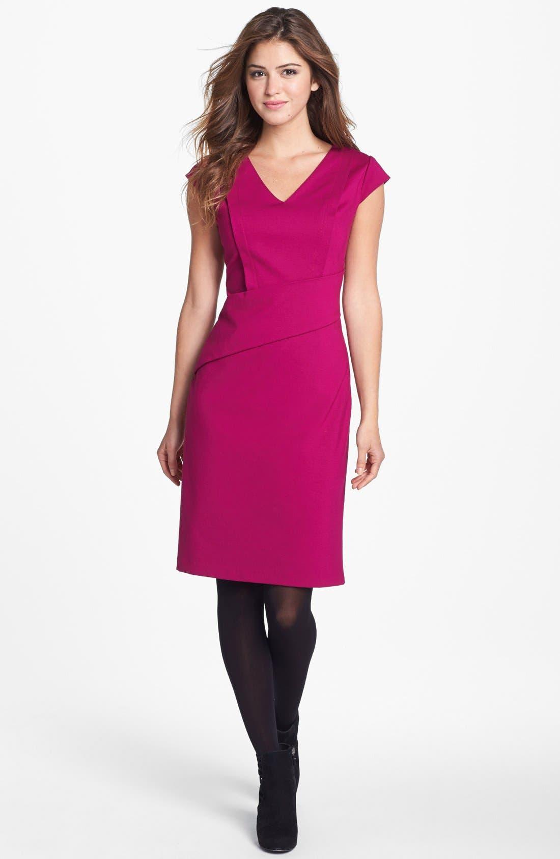 Alternate Image 4  - Adrianna Papell Cap Sleeve Sheath Dress (Online Only)