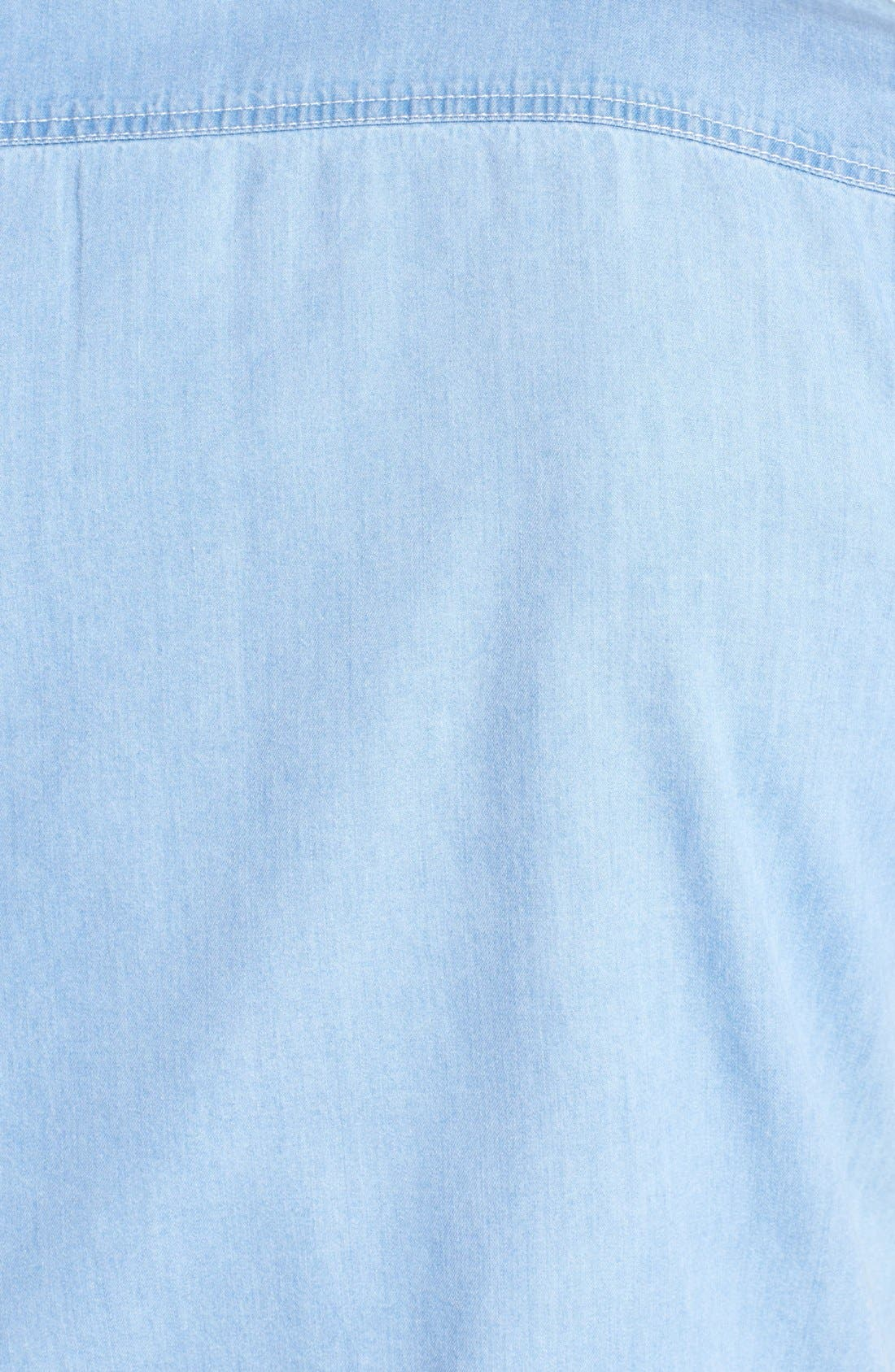 Alternate Image 3  - Topman Short Sleeve Denim Shirt