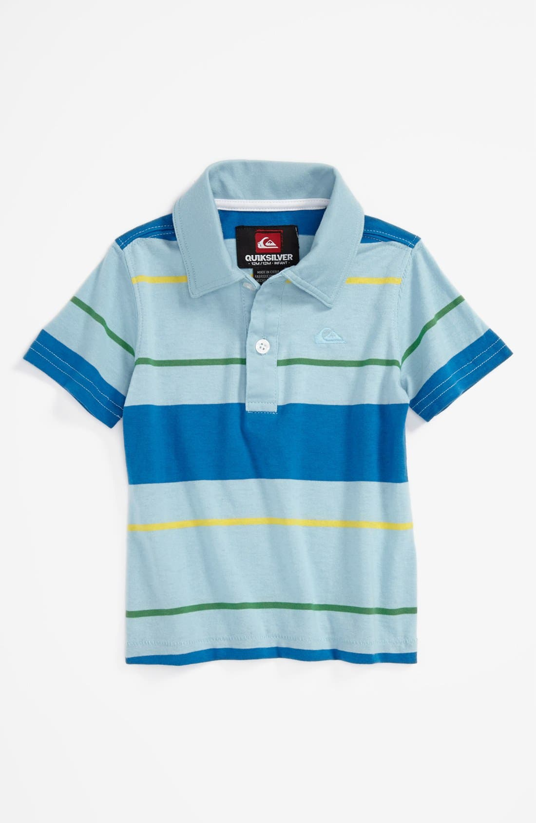 Alternate Image 1 Selected - Quiksilver 'Black Coffee' Polo (Baby Boys)