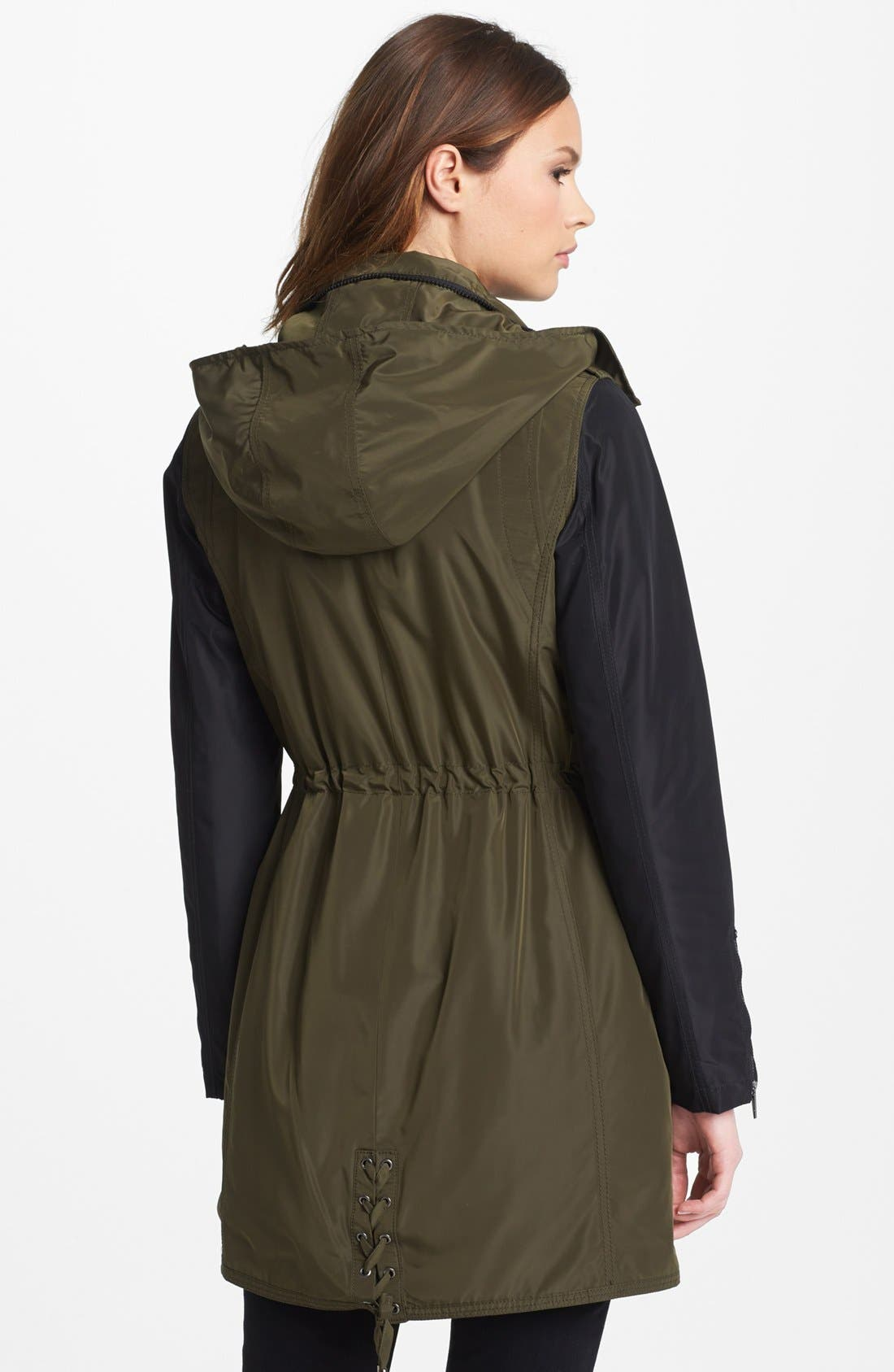 Alternate Image 2  - Laundry by Shelli Segal Two Tone Anorak (Online Only)