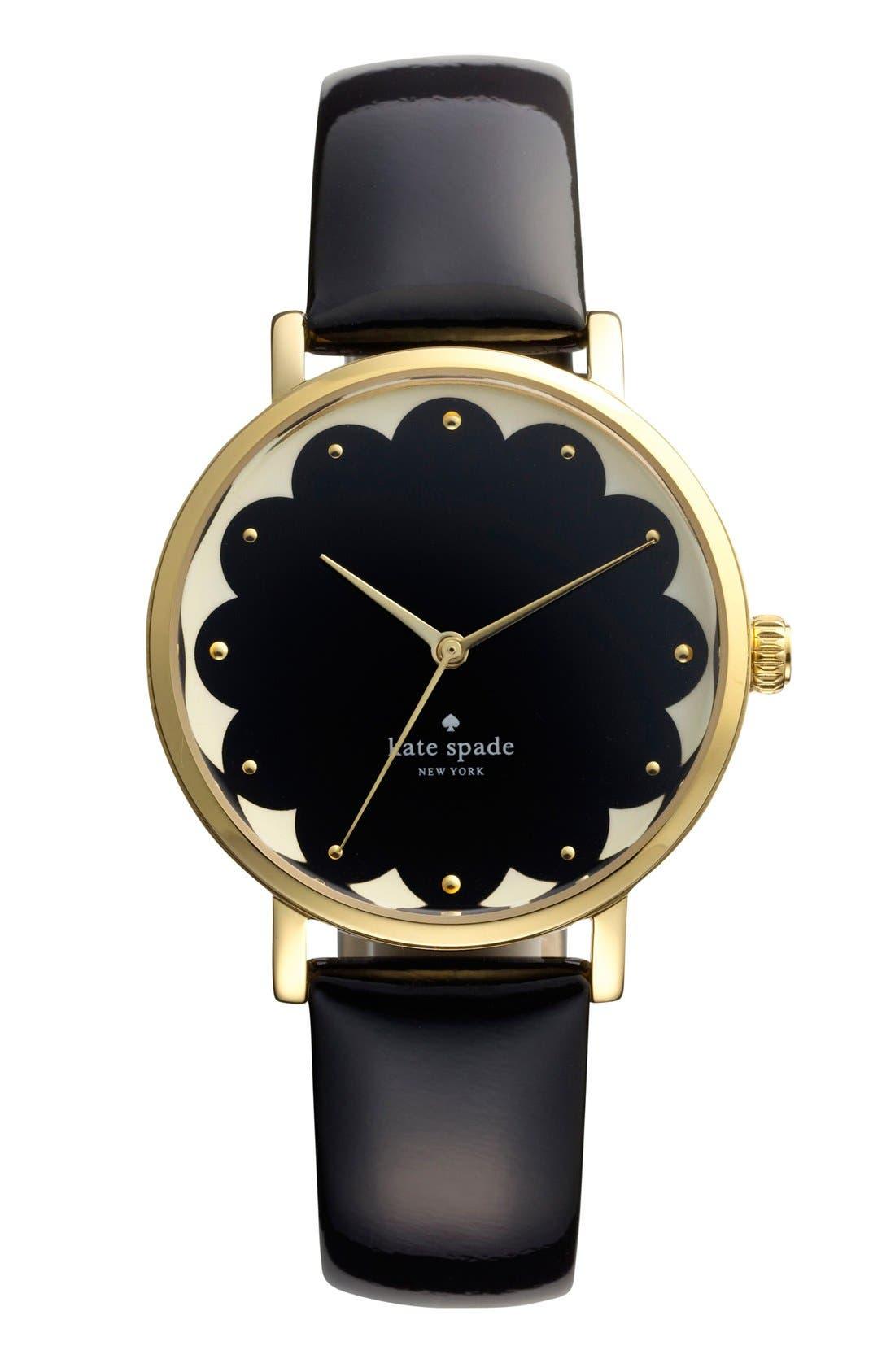 Alternate Image 1 Selected - kate spade new york 'metro' patterned dial watch, 34mm