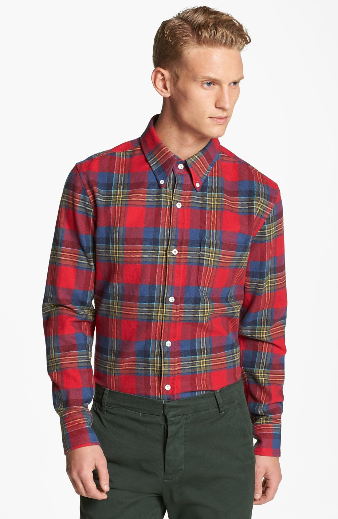 Alternate Image 1 Selected - Band of Outsiders Tartan Plaid Shirt