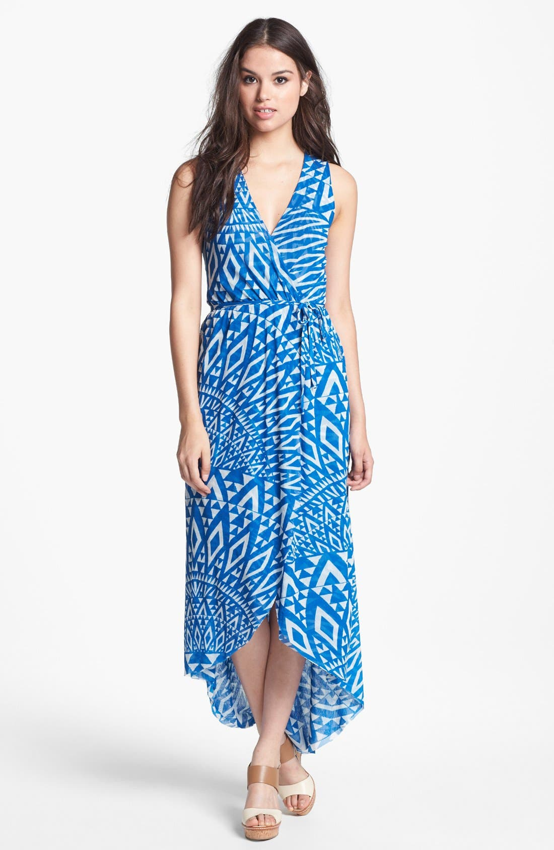 Main Image - Sweet Pea by Stacy Frati Print Surplice Dress