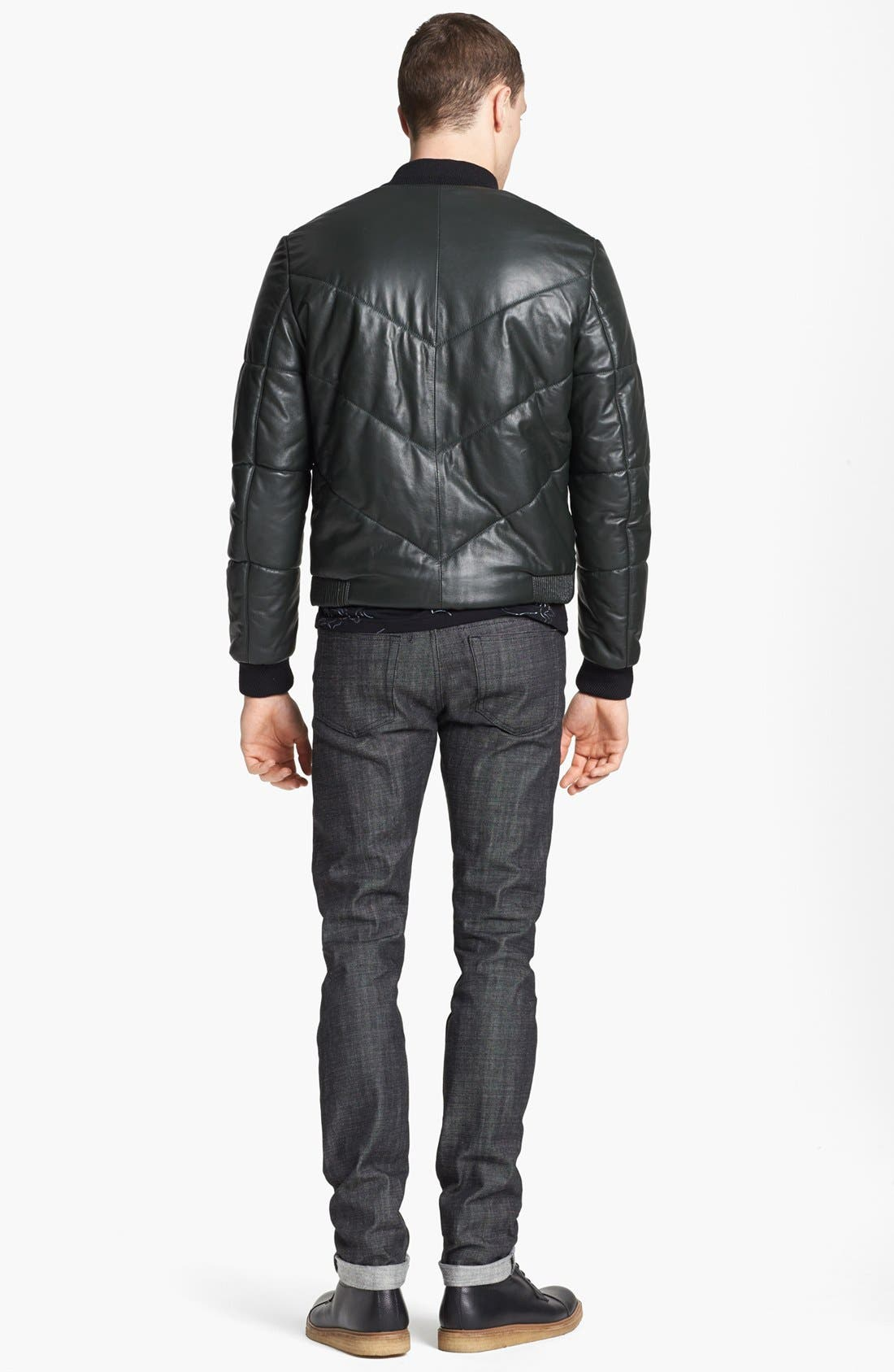 Alternate Image 5  - KENZO Quilted Leather Bomber Jacket