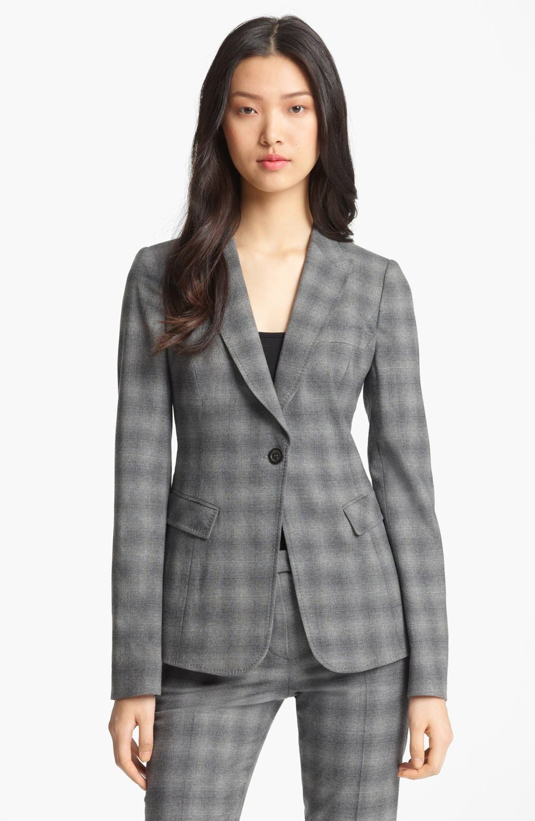 Alternate Image 1 Selected - Armani Collezioni Shadow Stripe Stretch Wool Jacket