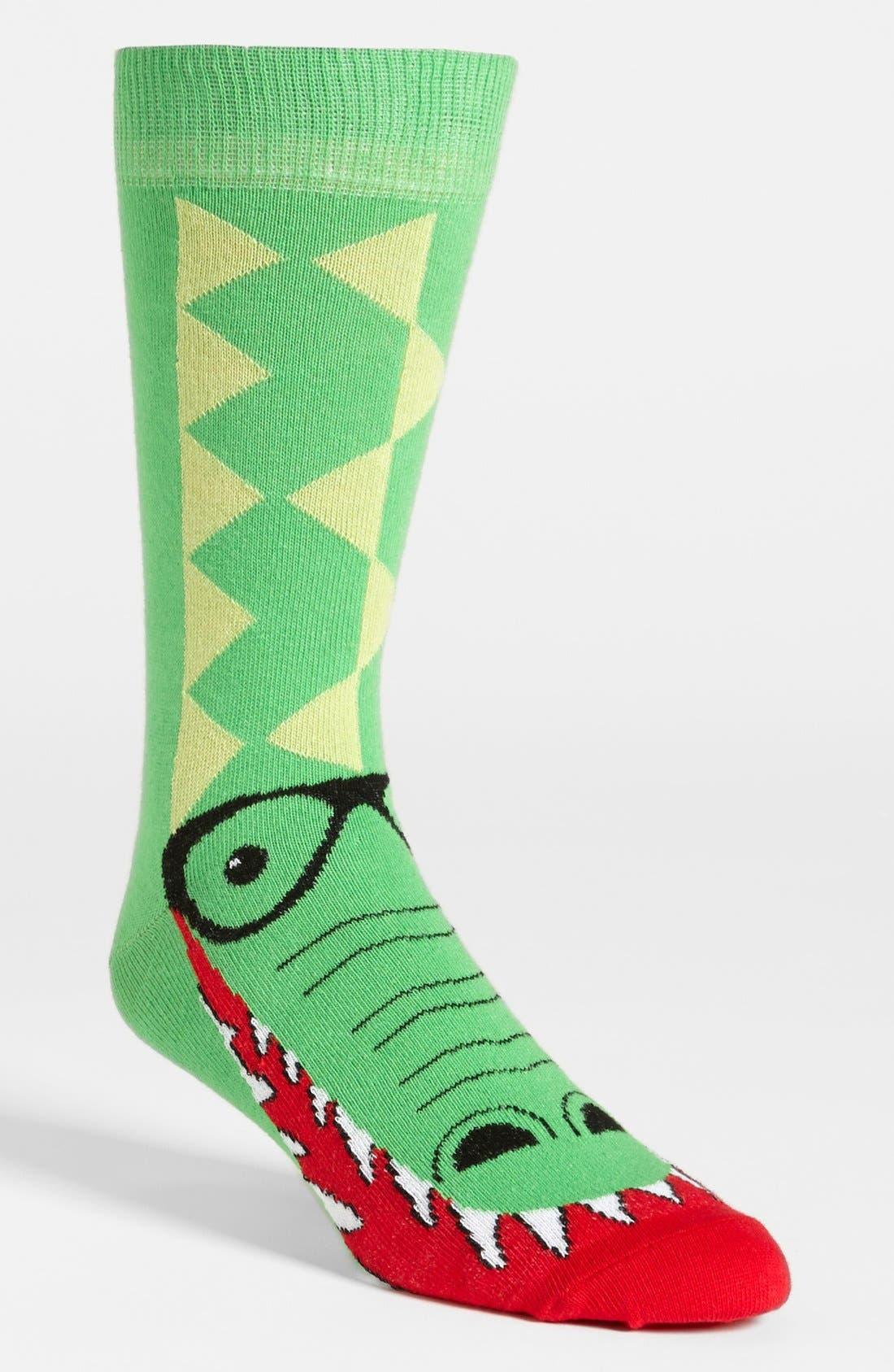 Alternate Image 1 Selected - Topman Crocodile Socks