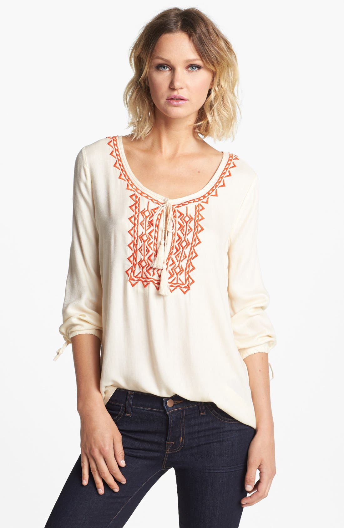Alternate Image 1 Selected - Soft Joie 'Calathia' Embroidered Tunic