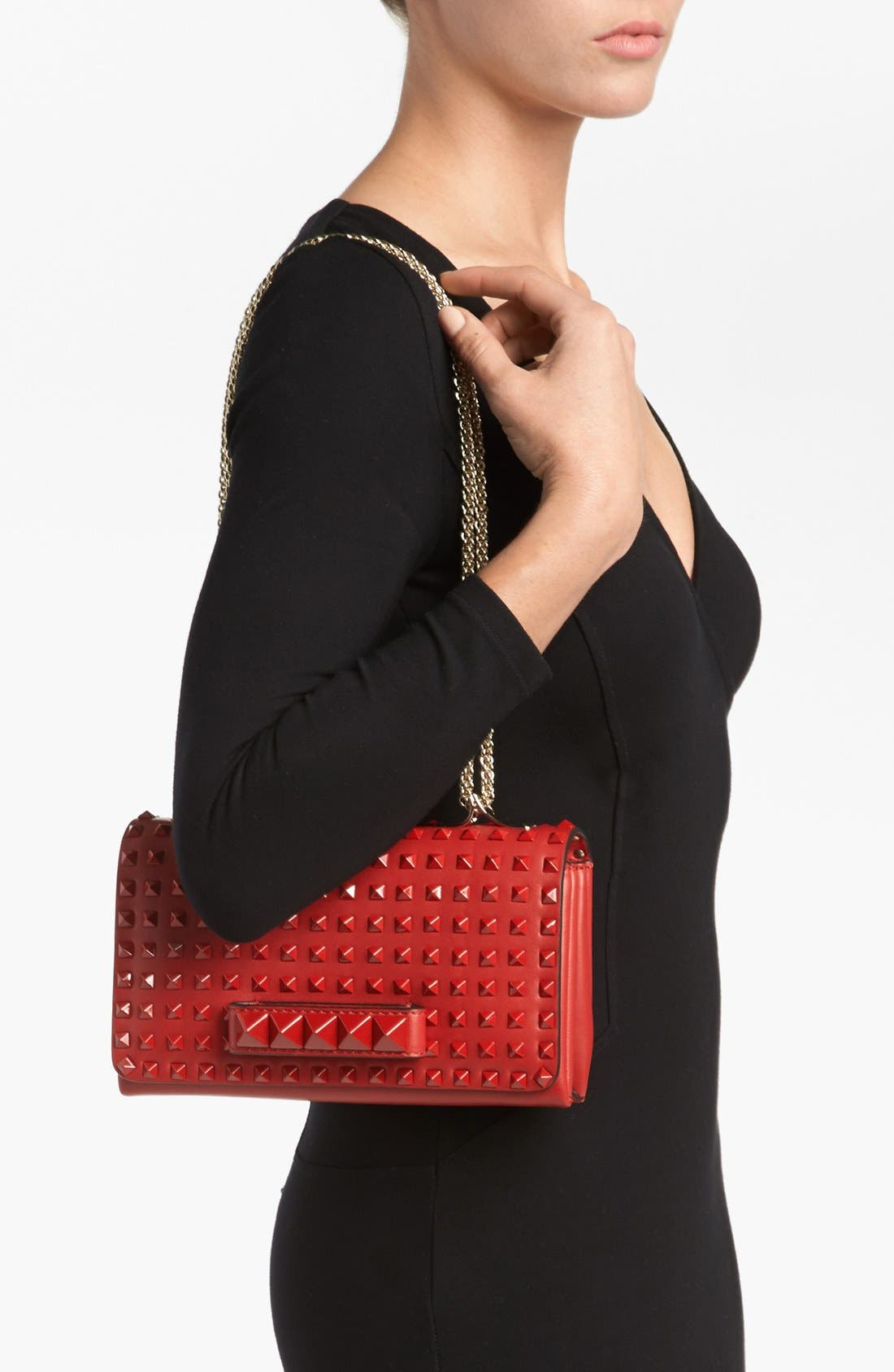 Alternate Image 2  - Valentino 'Rockstud - Rouge Va Va Voom' Leather Shoulder Bag