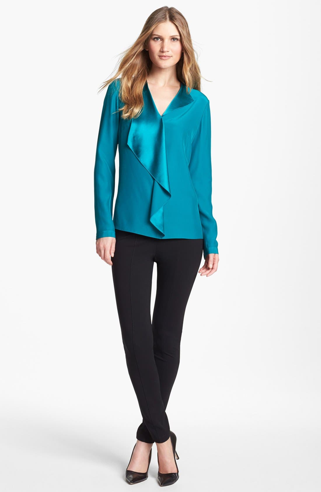 Alternate Image 3  - Lafayette 148 New York 'Ainslee' Silk Blouse