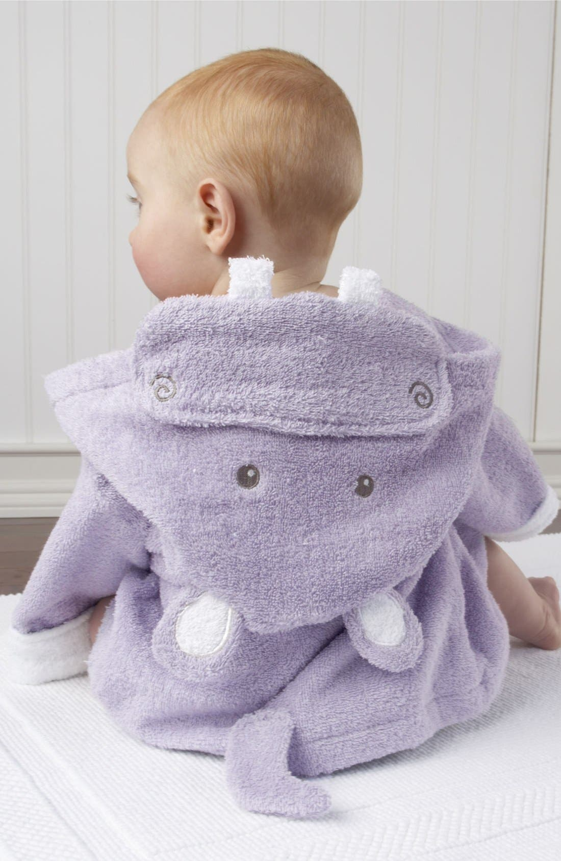 Alternate Image 3  - Baby Aspen 'Hug a Lot Amus' Hooded Robe (Baby)