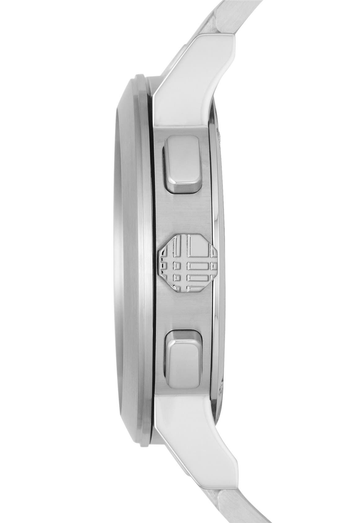 Alternate Image 4  - Burberry Check Stamped Chronograph Bracelet Watch, 42mm