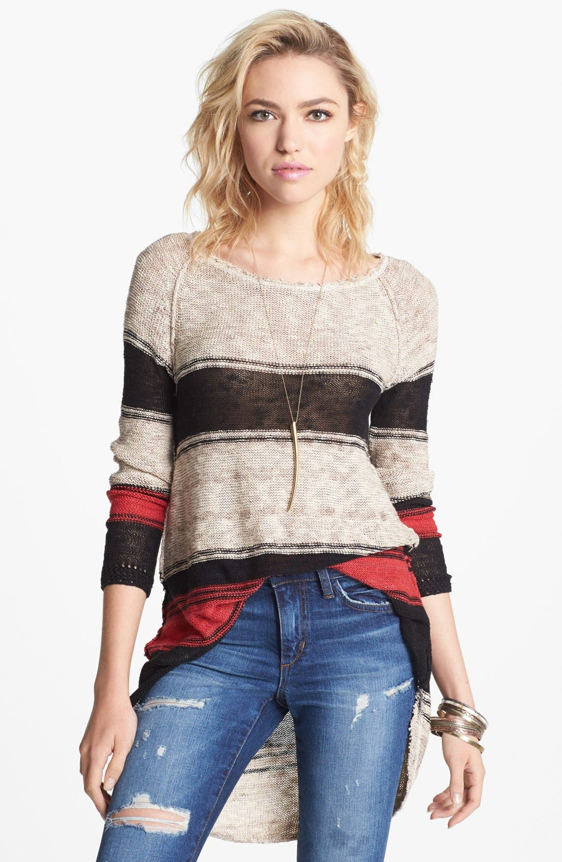 Alternate Image 1 Selected - Free People 'Block of Stripes' Pullover