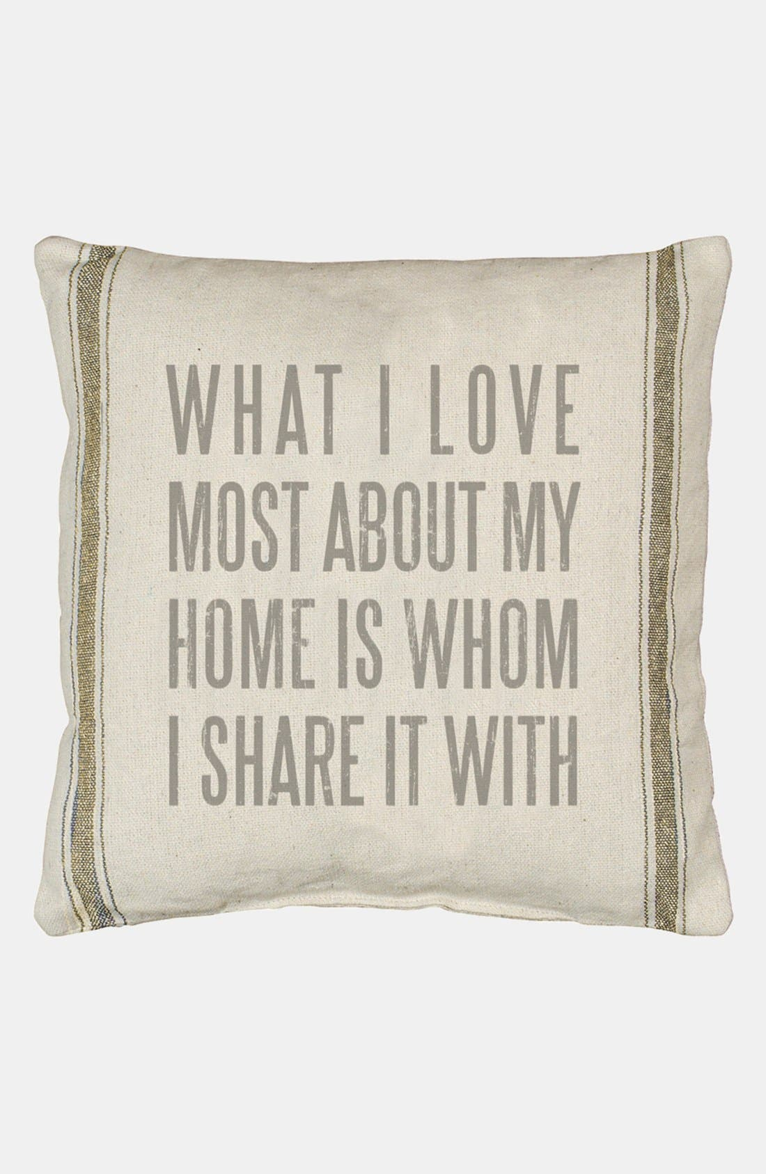 Alternate Image 1 Selected - Primitives by Kathy 'What I Love Most' Pillow