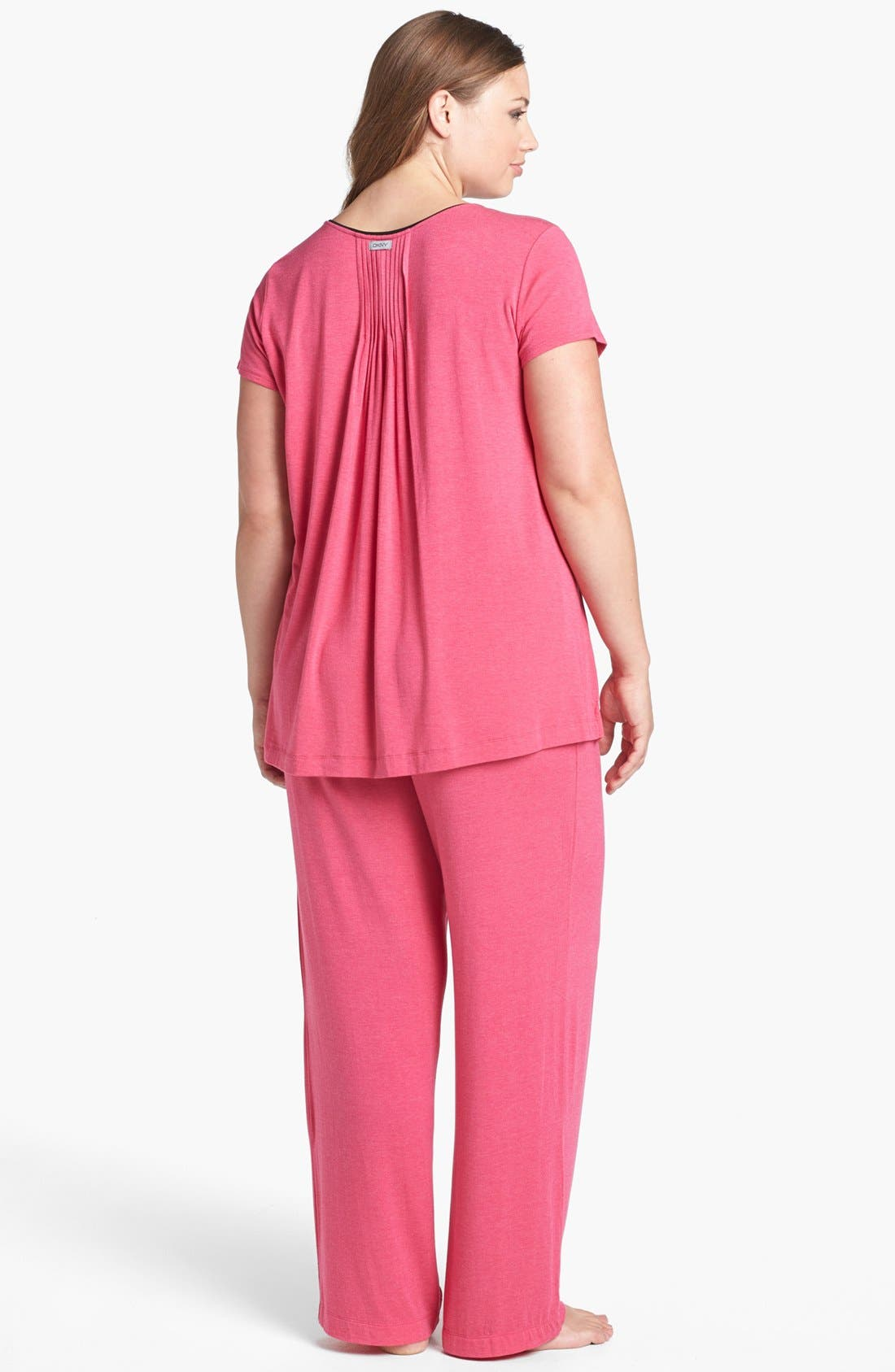 Alternate Image 4  - DKNY '7 Easy Pieces' Pintuck Top (Plus Size)