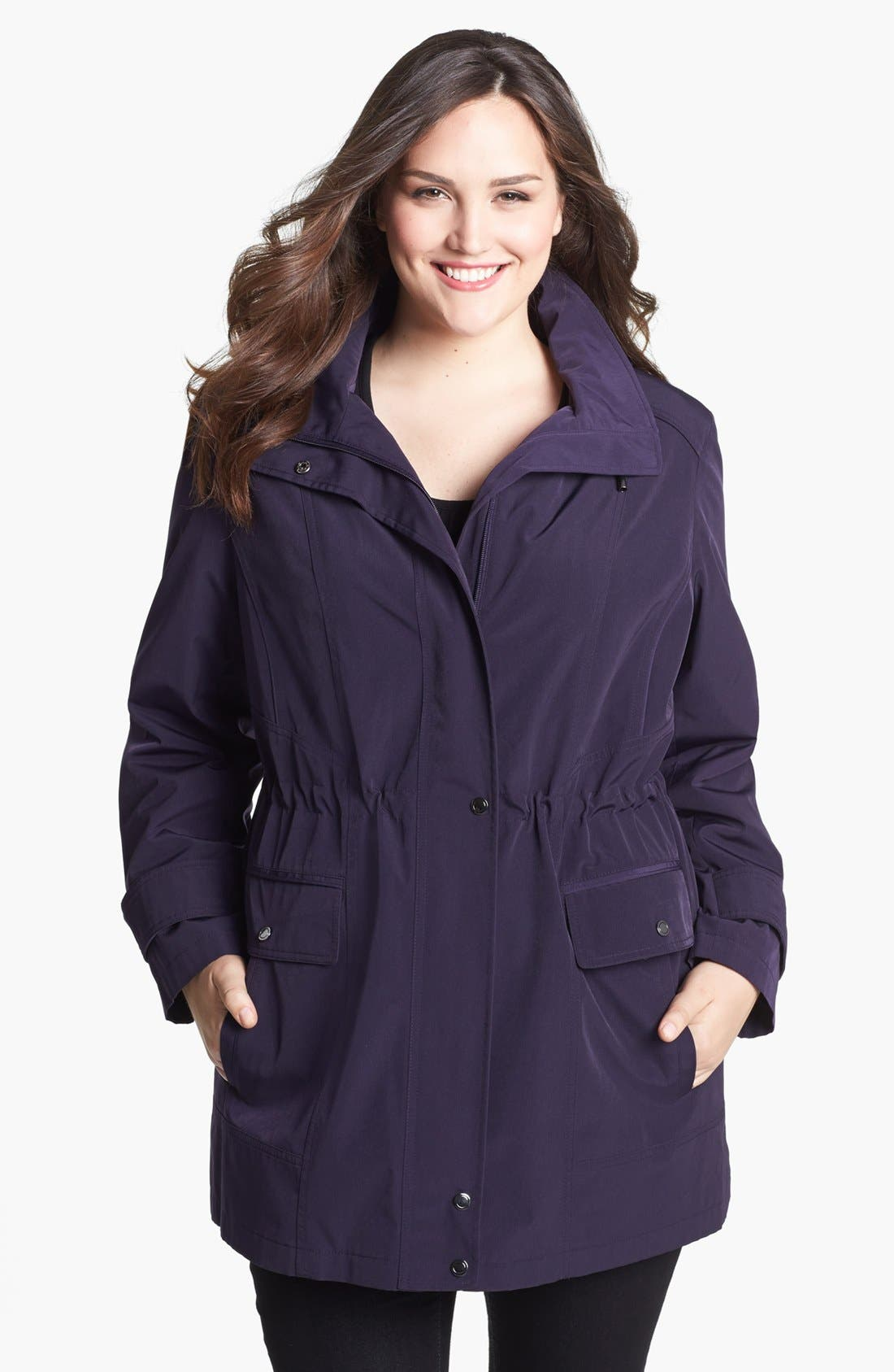 Alternate Image 1 Selected - Gallery Anorak with Detachable Hood & Liner (Plus Size)