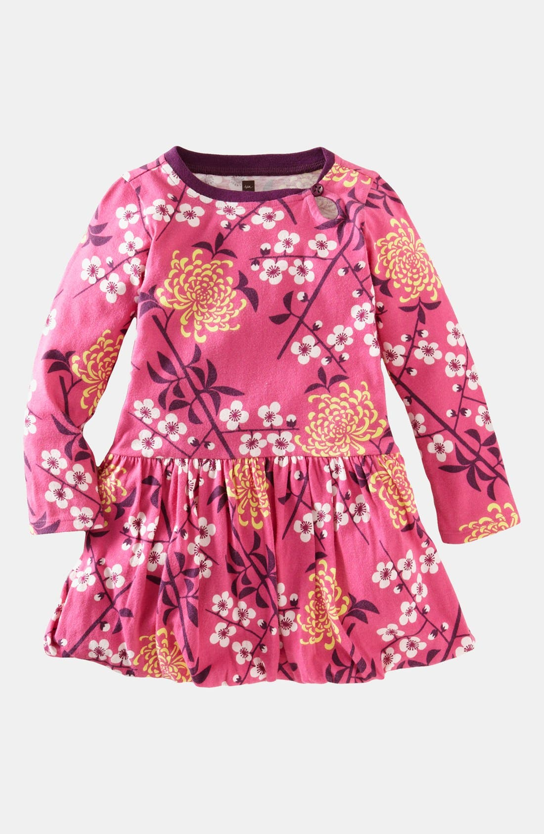 Main Image - Tea Collection 'Branch Blossom' Bubble Dress (Big Girls)