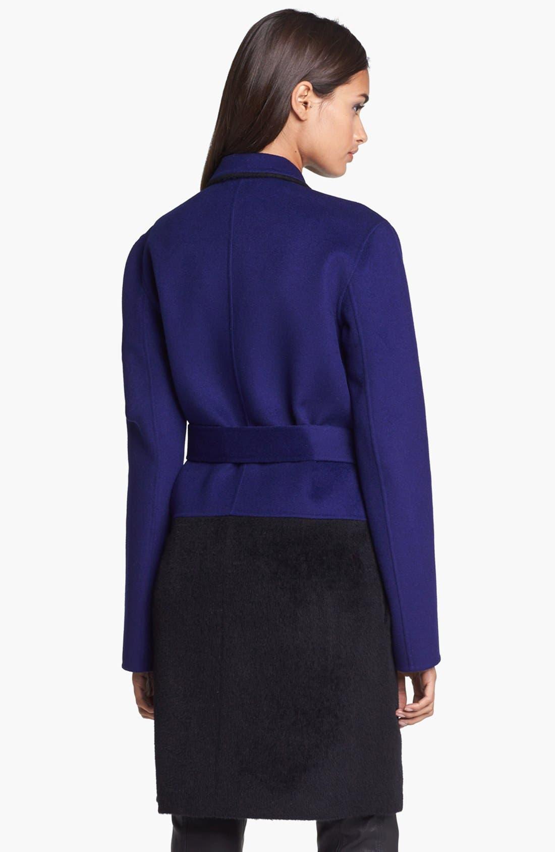 Alternate Image 2  - Diane von Furstenberg 'Logan' Colorblock Overcoat