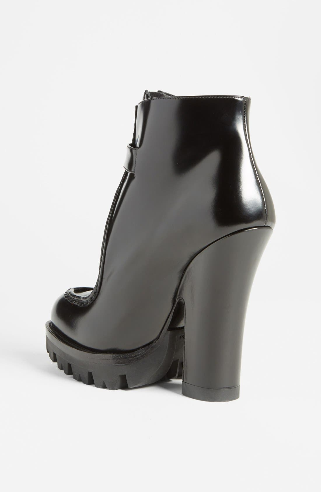 Alternate Image 2  - Prada Front Zip Lug Sole Bootie