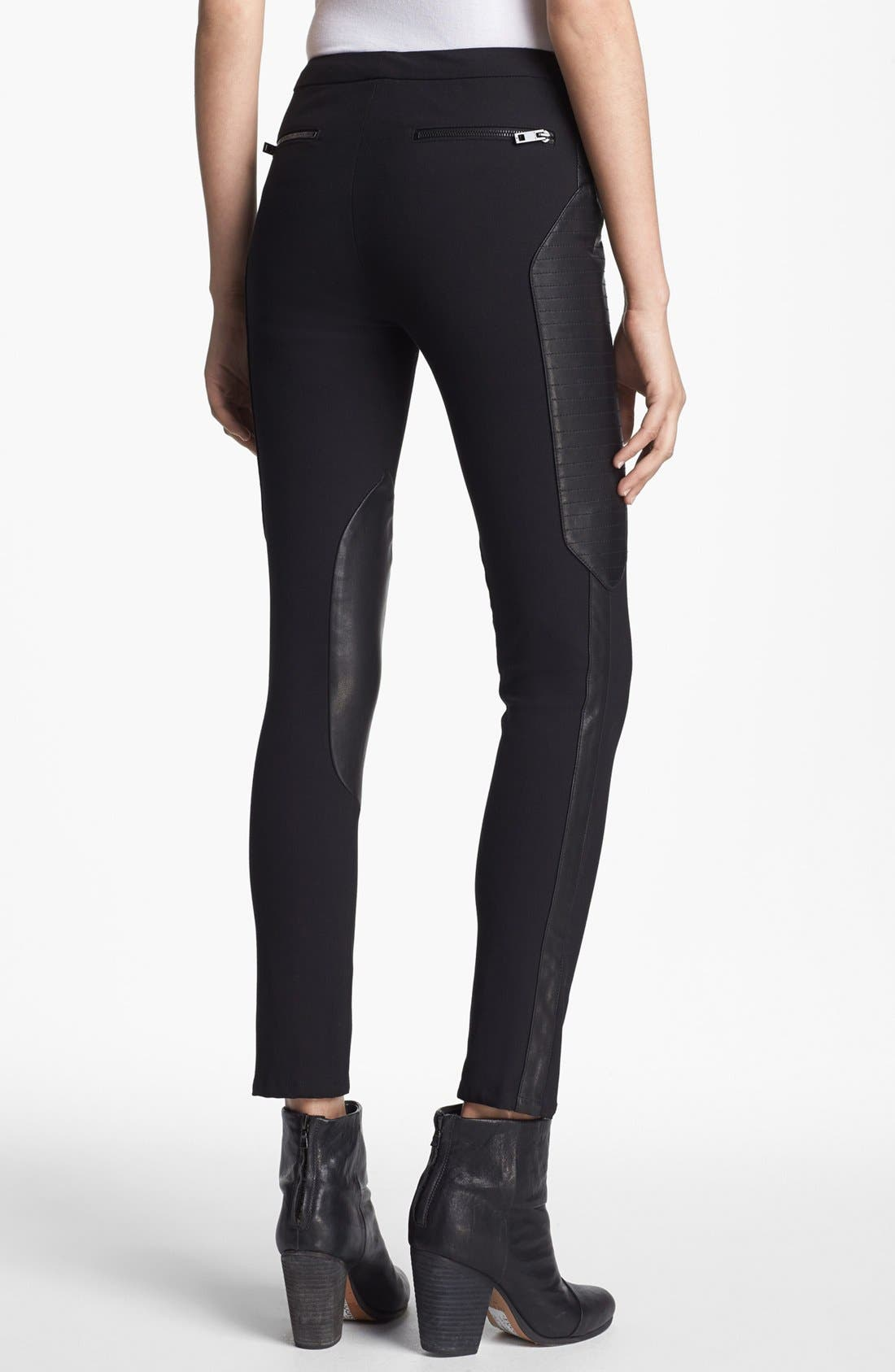 Alternate Image 3  - rag & bone 'Ilford' Leather Panel Pants