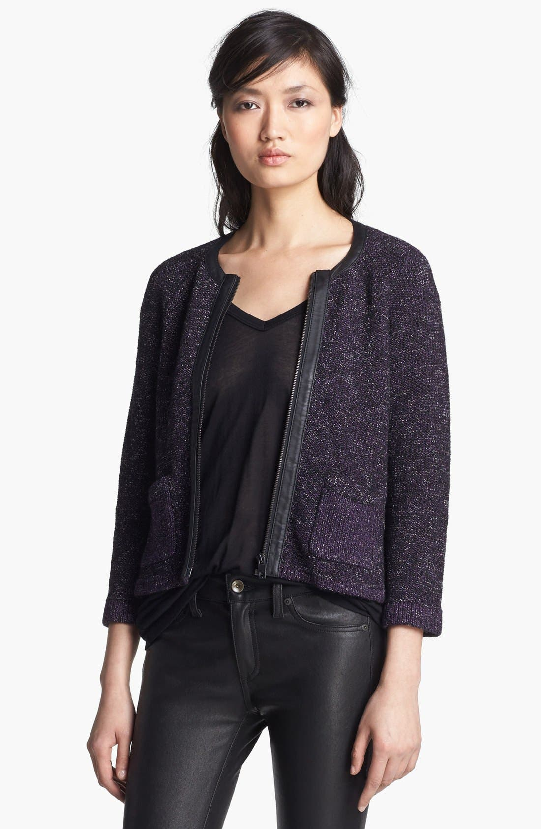 Alternate Image 1 Selected - rag & bone 'Jackie' Colorless Knit Jacket