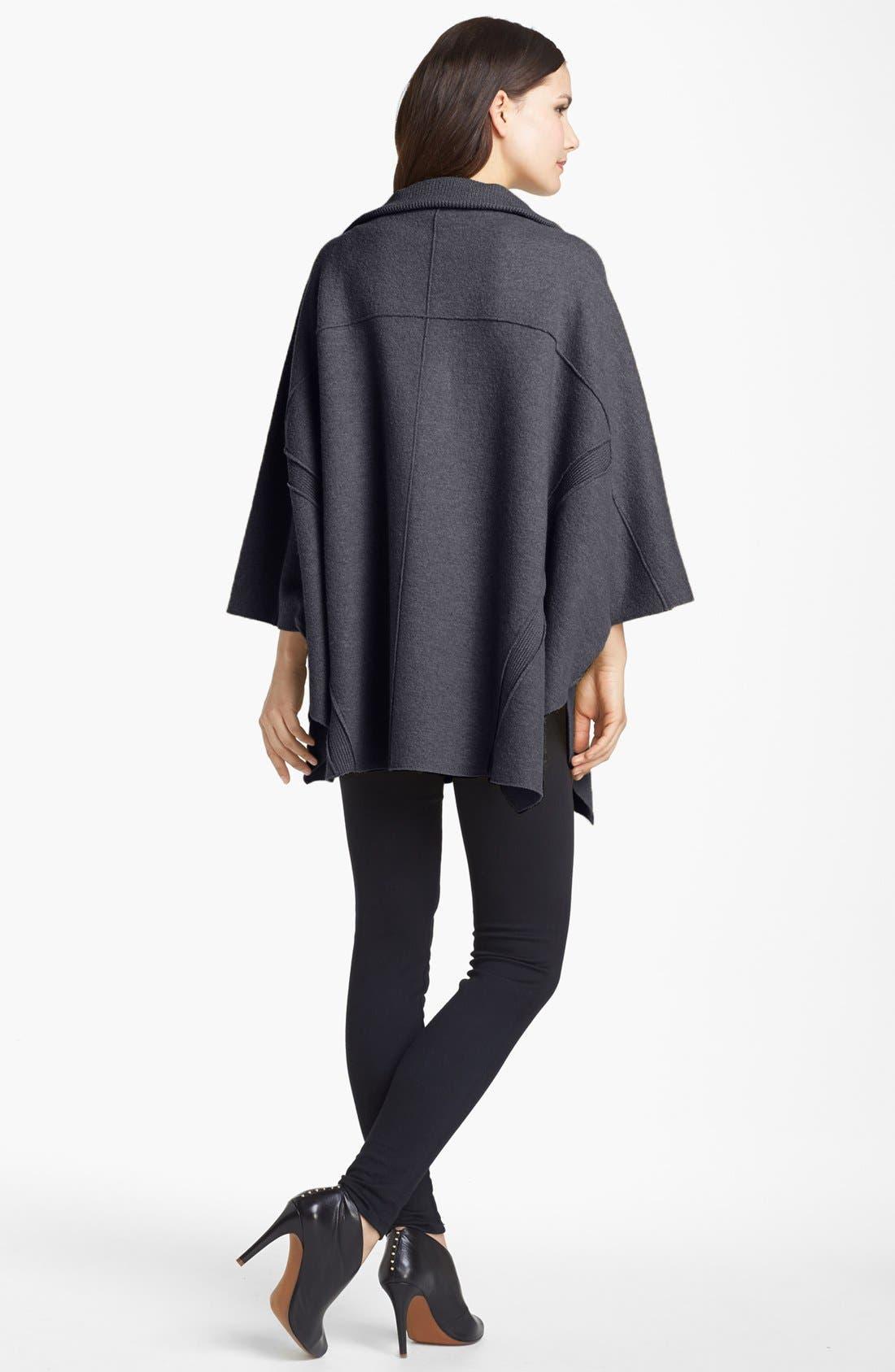 Alternate Image 3  - Eileen Fisher Boiled Wool Poncho Cardigan
