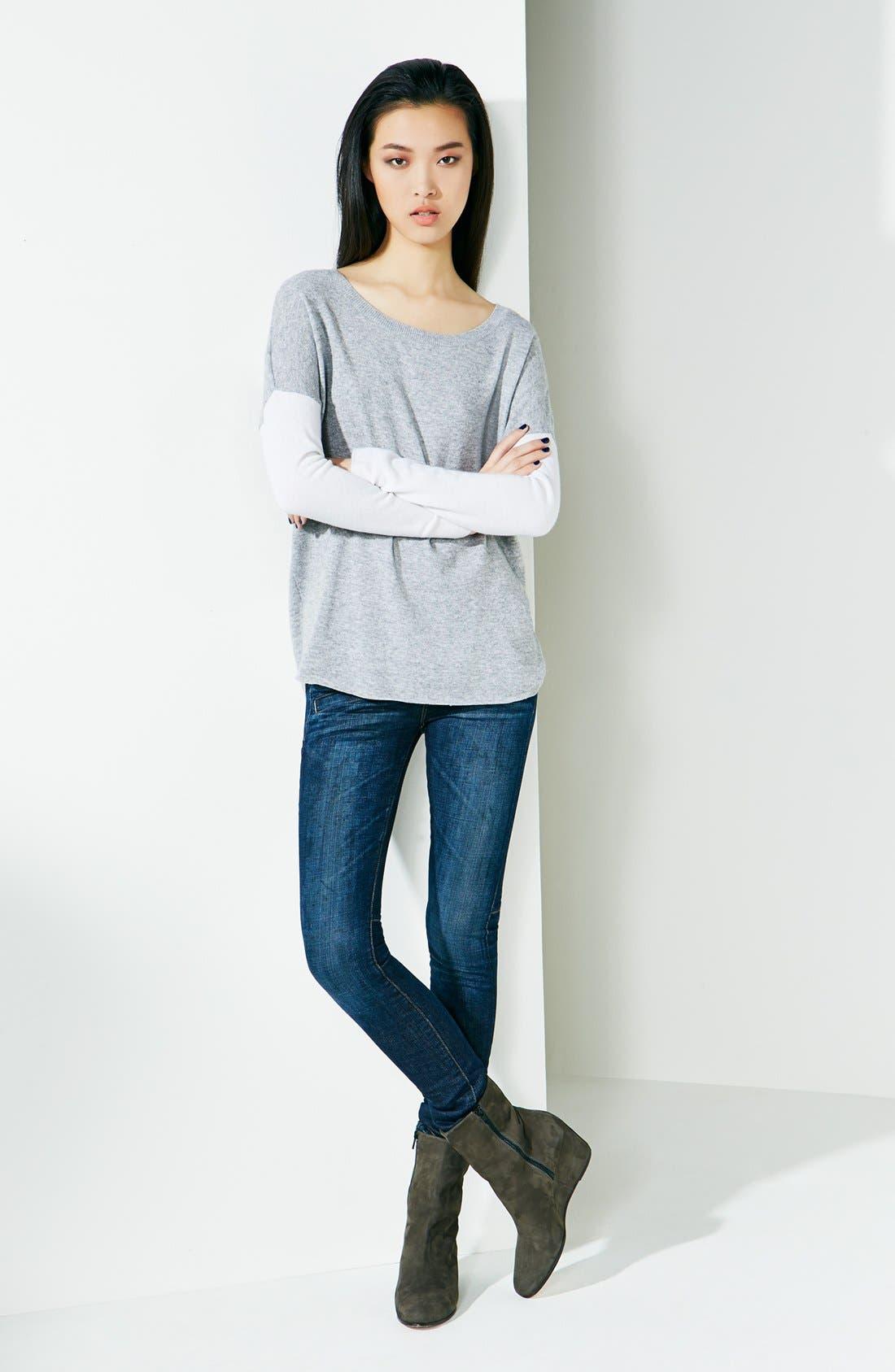 Alternate Image 4  - Vince Welt Pocket Skinny Stretch Jeans (Dirty Vintage)