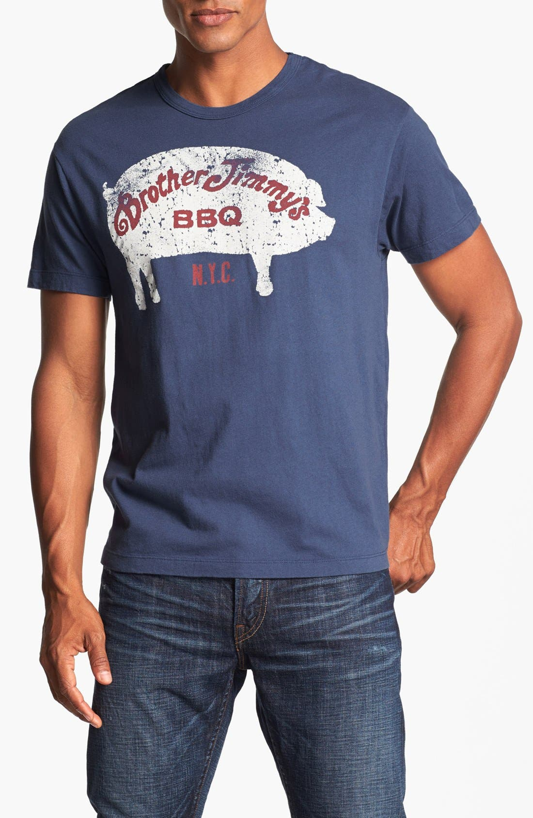 Alternate Image 1 Selected - Tailgate 'Brother Jimmy's BBQ' Trim Fit T-Shirt
