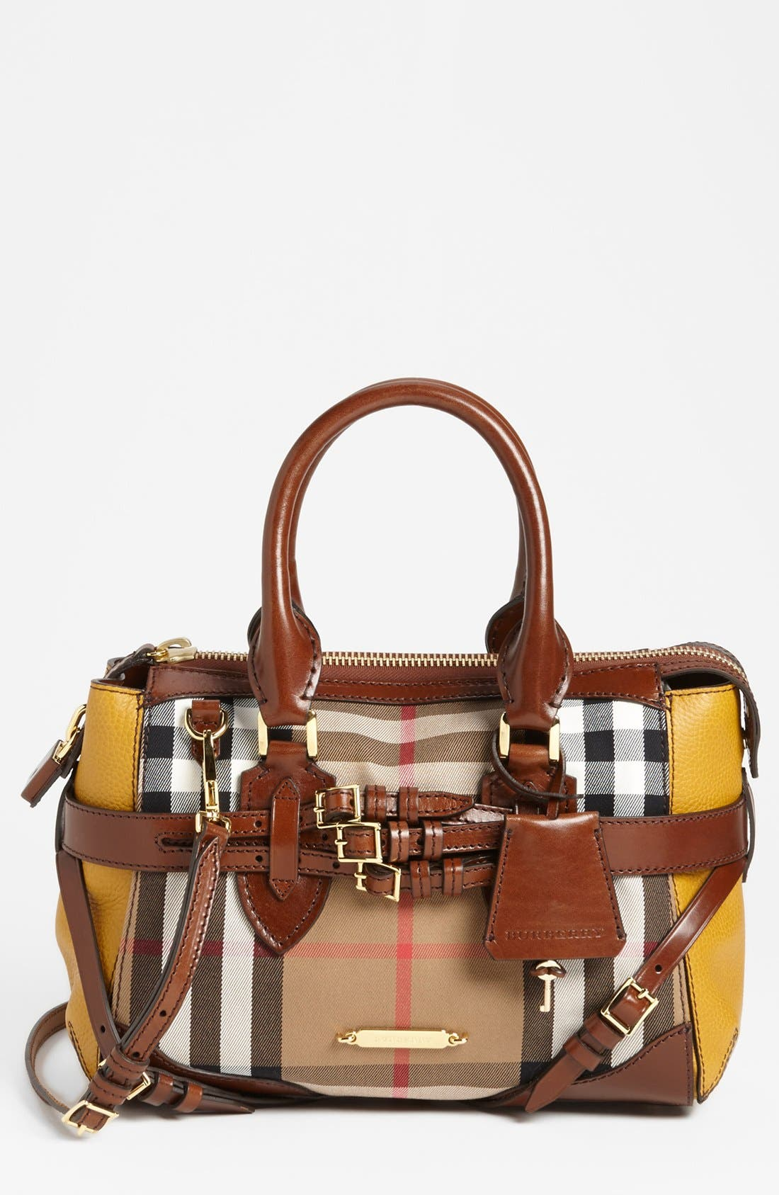 Alternate Image 1 Selected - Burberry 'House Check - Small' Satchel