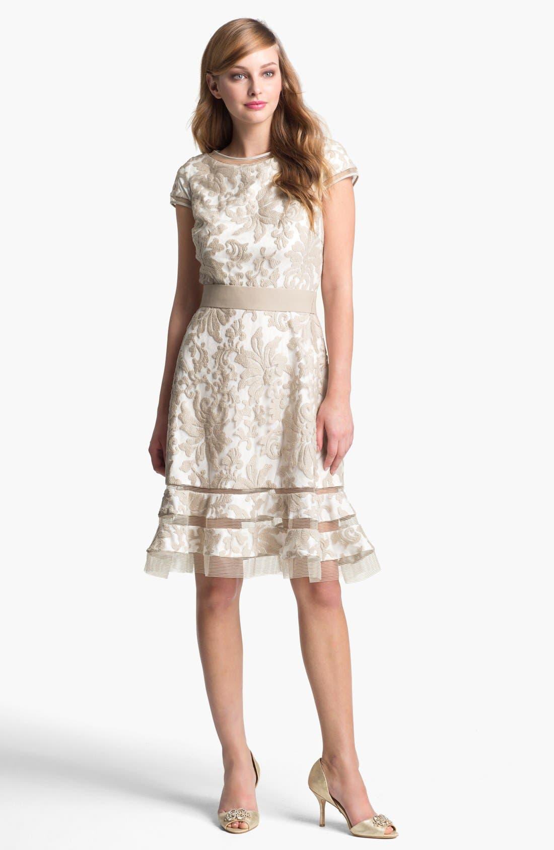 Alternate Image 1 Selected - Tadashi Shoji Textured Lace Dress
