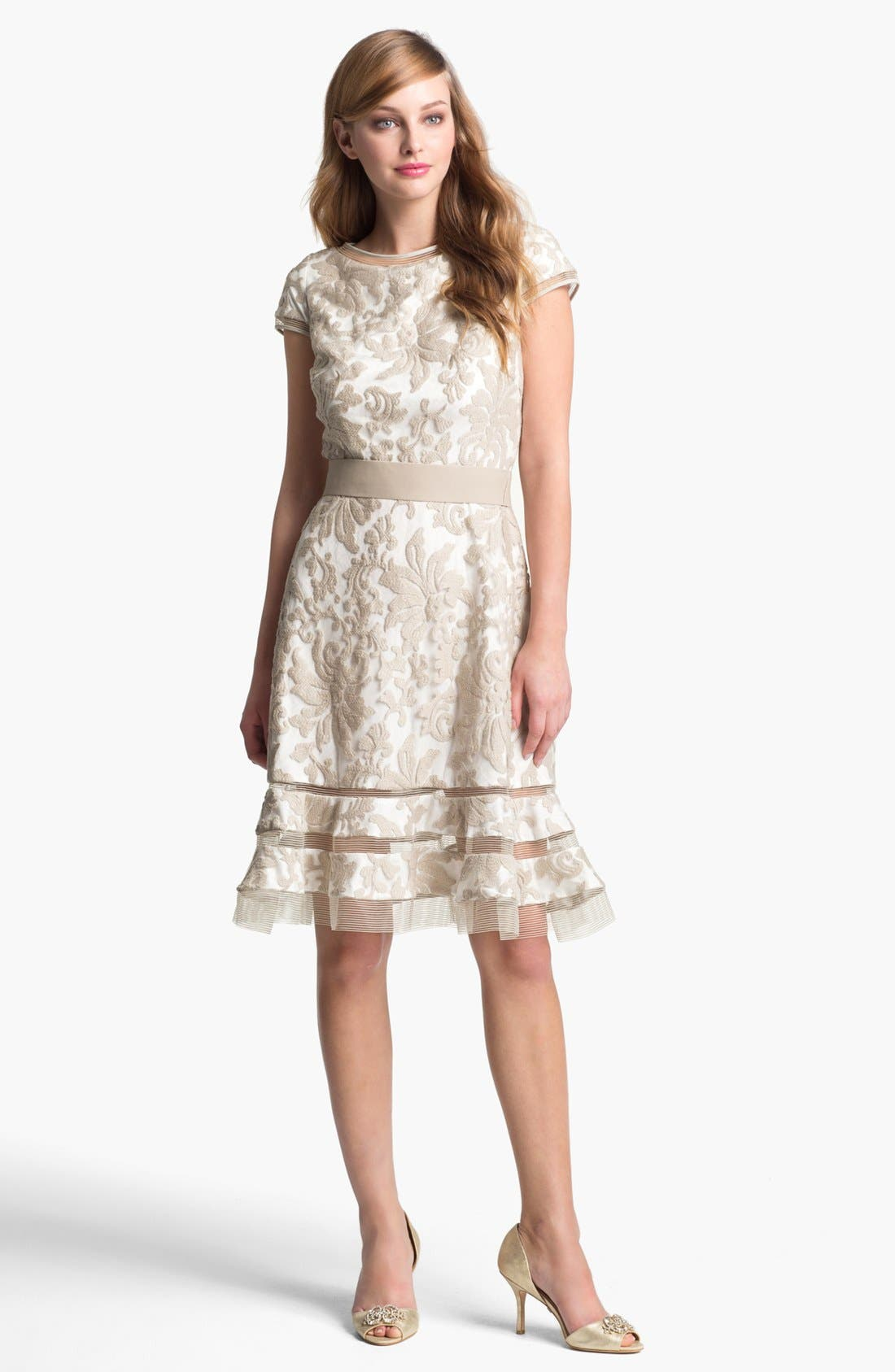 Main Image - Tadashi Shoji Textured Lace Dress