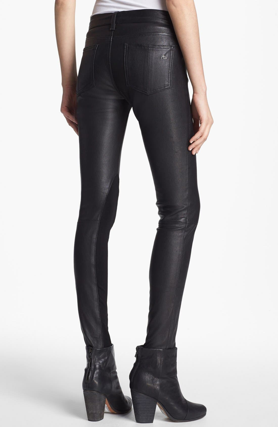 Alternate Image 2  - rag & bone/JEAN 'The Reverse' Leather Pants