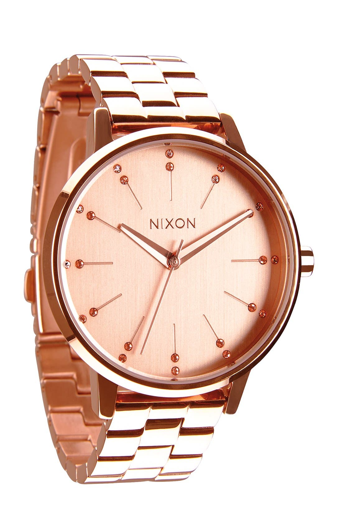 Alternate Image 1 Selected - Nixon 'Kensington' Crystal Bracelet Watch, 37mm