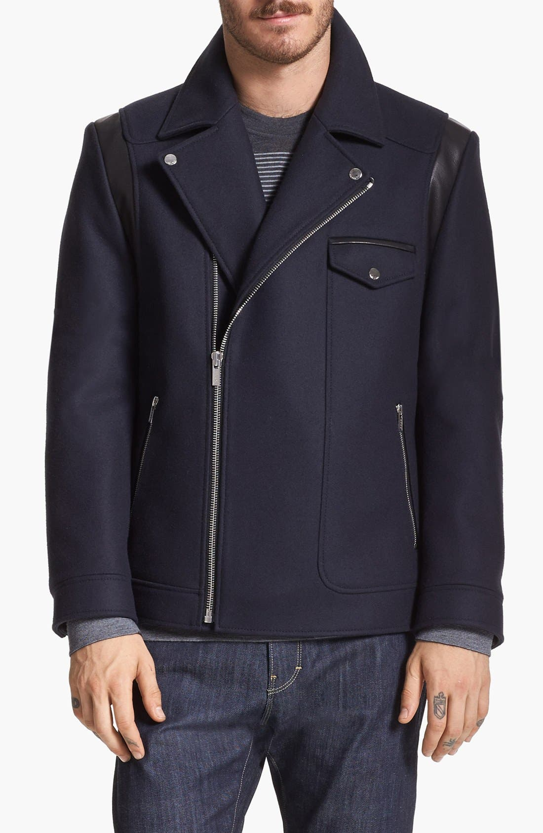 Main Image - HUGO 'Bynch' Biker Jacket