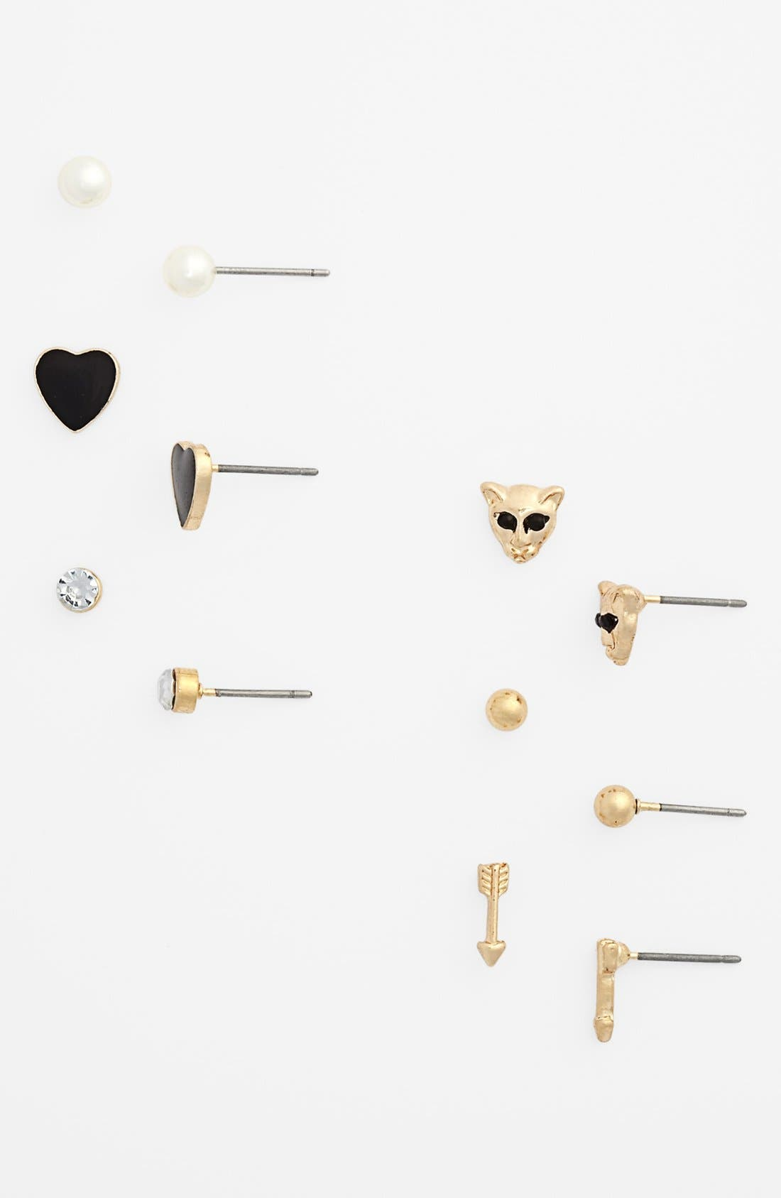 Alternate Image 1 Selected - Statements by DCK Assorted Stud Earrings (Set of 6) (Juniors)