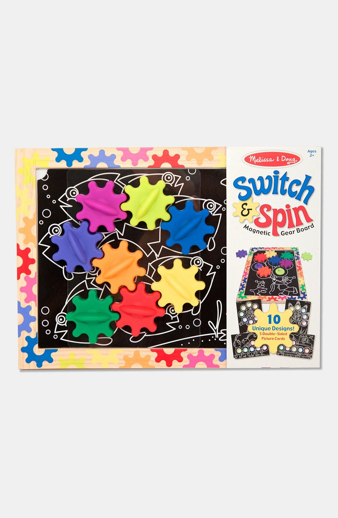 Alternate Image 1 Selected - Melissa & Doug 'Switch & Spin' Magnetic Gear Board