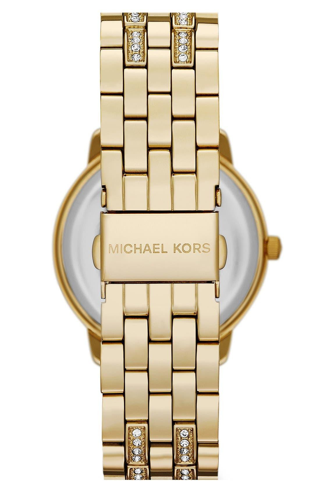 Alternate Image 2  - Michael Kors 'Lady Nini' Round Bracelet Watch, 35mm