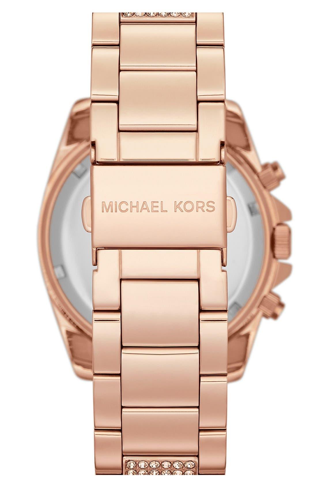 Alternate Image 2  - Michael Kors 'Blair' Pavé Crystal Bracelet Watch, 39mm