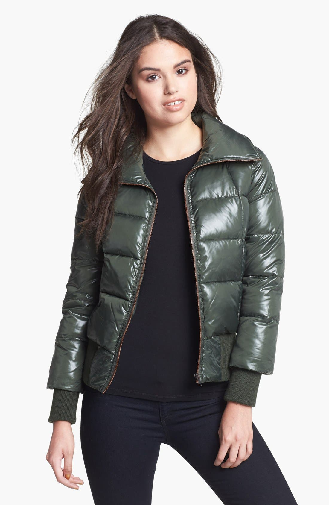 Alternate Image 1 Selected - BB Dakota Cire Shell Quilted Jacket