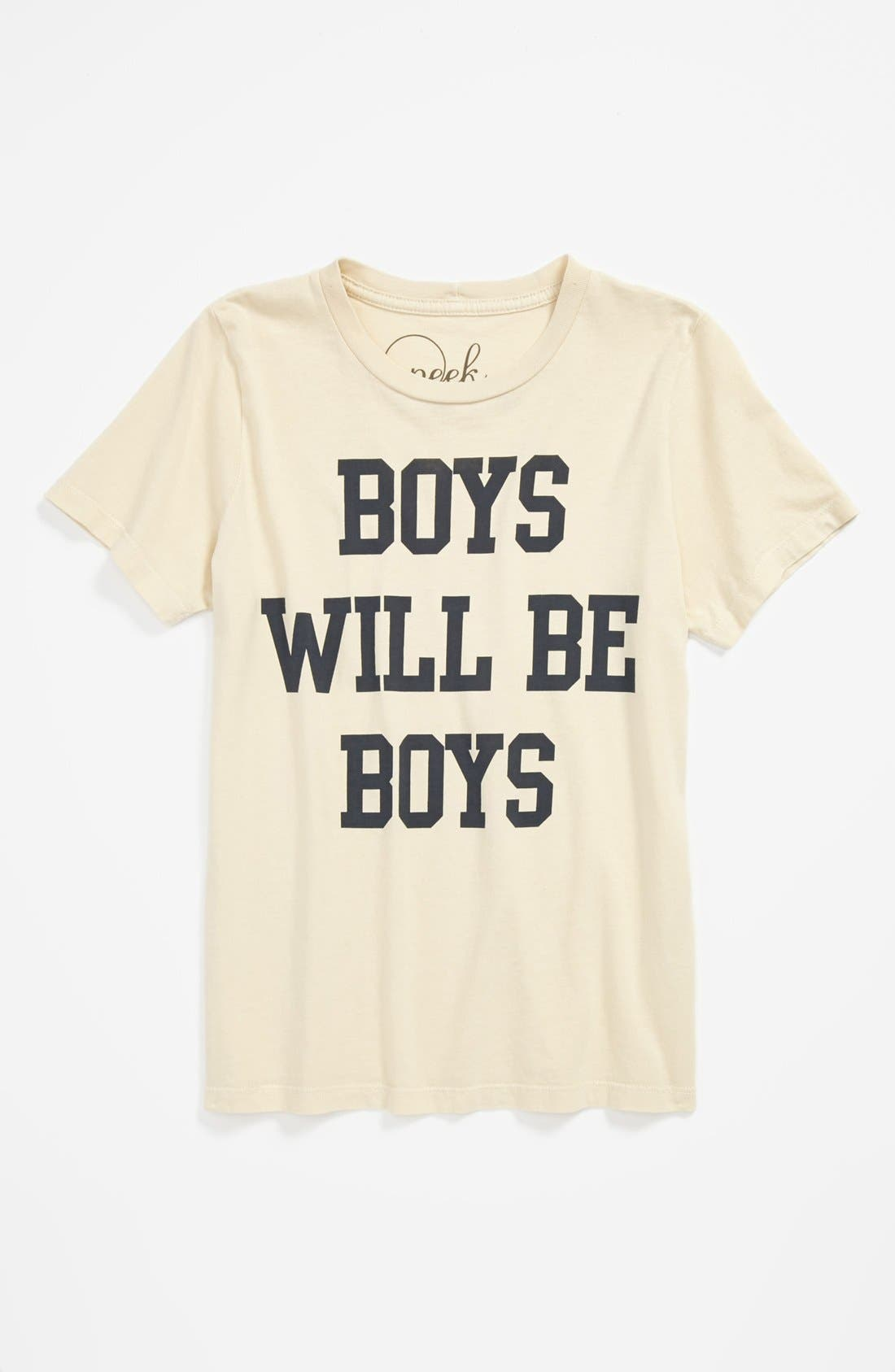 Alternate Image 1 Selected - Peek 'Boys Will Be Boys' T-Shirt (Little Boys & Big Boys)