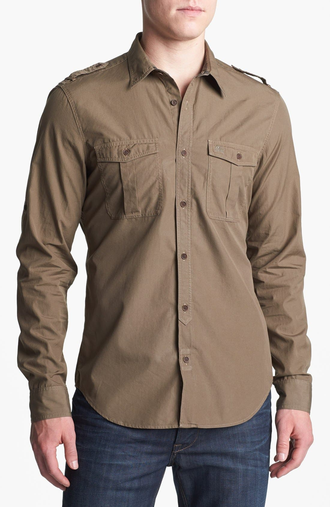 Main Image - Burberry Brit 'Keeling' Trim Fit Cotton Sport Shirt