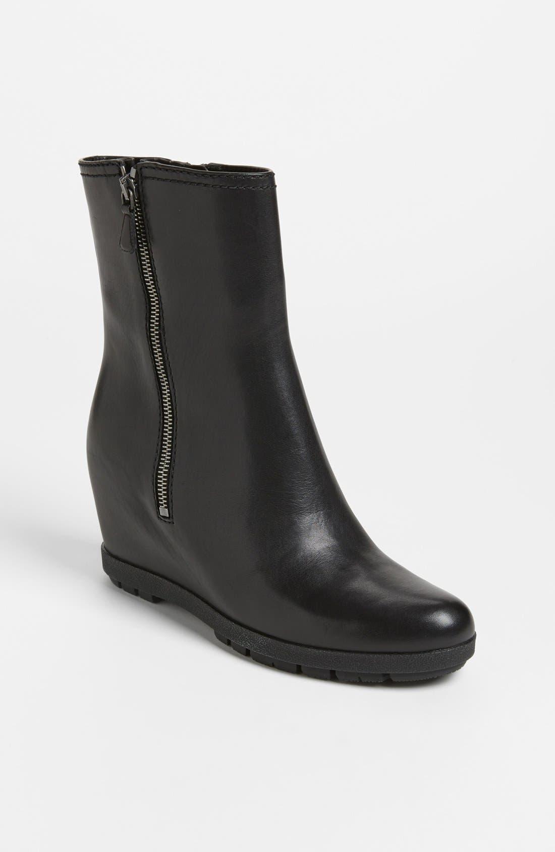Alternate Image 1 Selected - Prada Wedge Ankle Boot