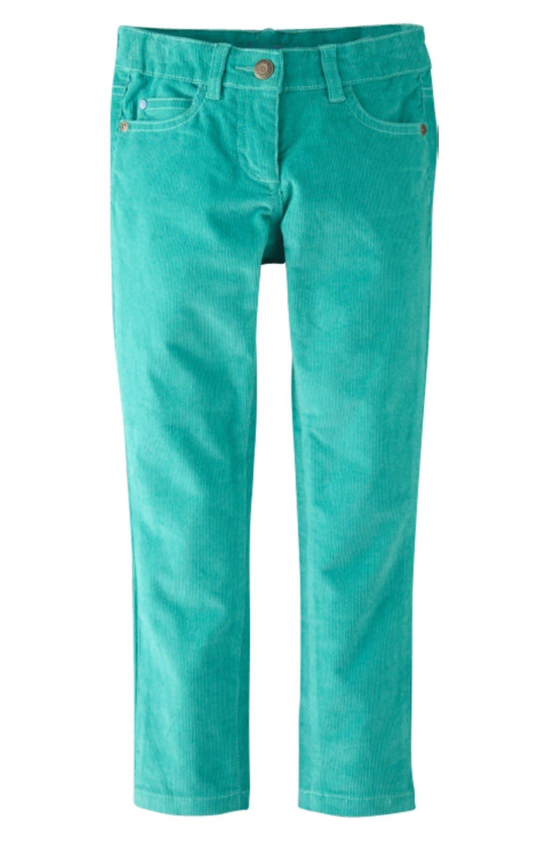 Main Image - Mini Boden Slim Fit Corduroy Pants (Toddler Girls, Little Girls & Big Girls)