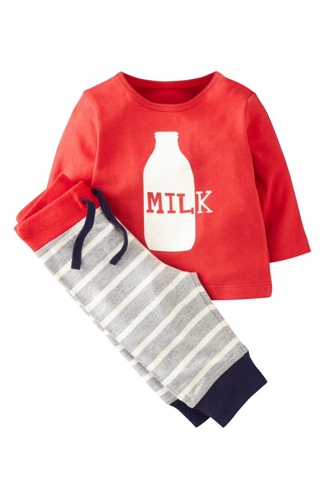 Alternate Image 1 Selected - Mini Boden Shirt & Leggings (Baby Boys)
