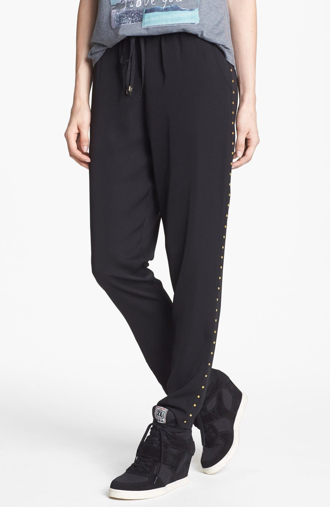 Alternate Image 1 Selected - Blu Pepper Studded Track Pants (Juniors)