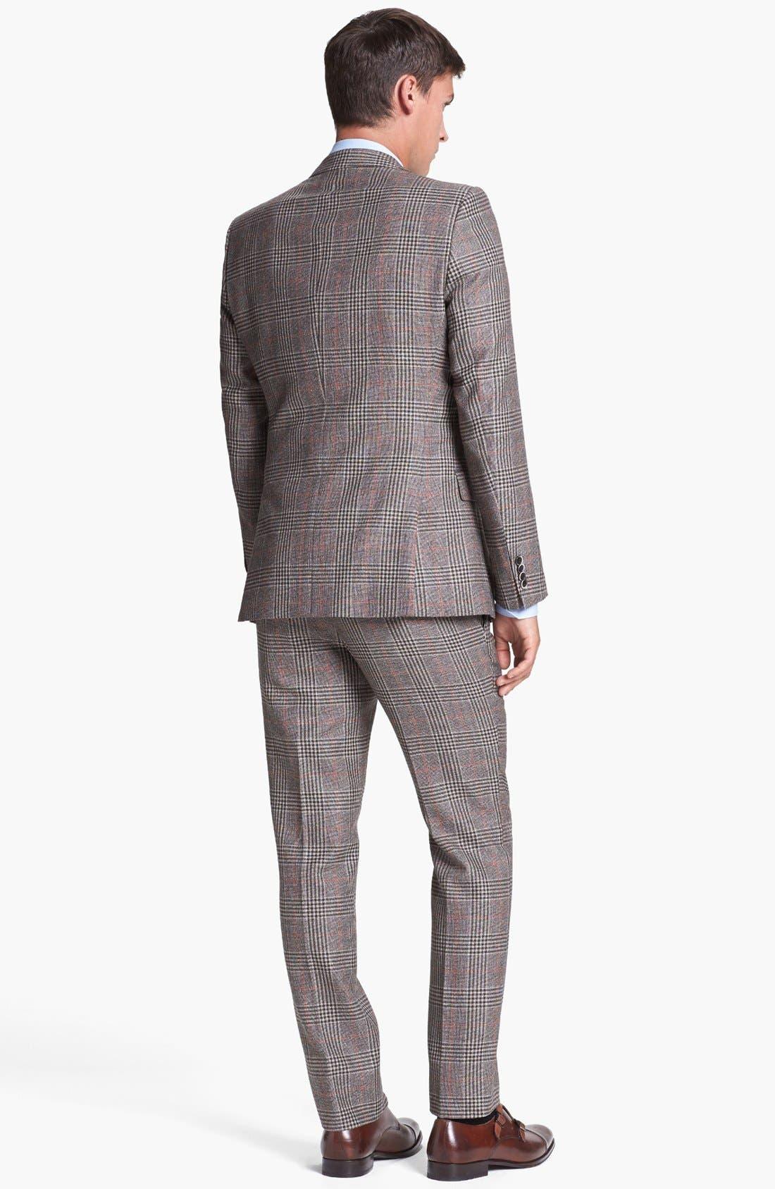 Alternate Image 3  - BOSS HUGO BOSS 'Dunham/Knight' Trim Fit Three Piece Suit (Online Only)