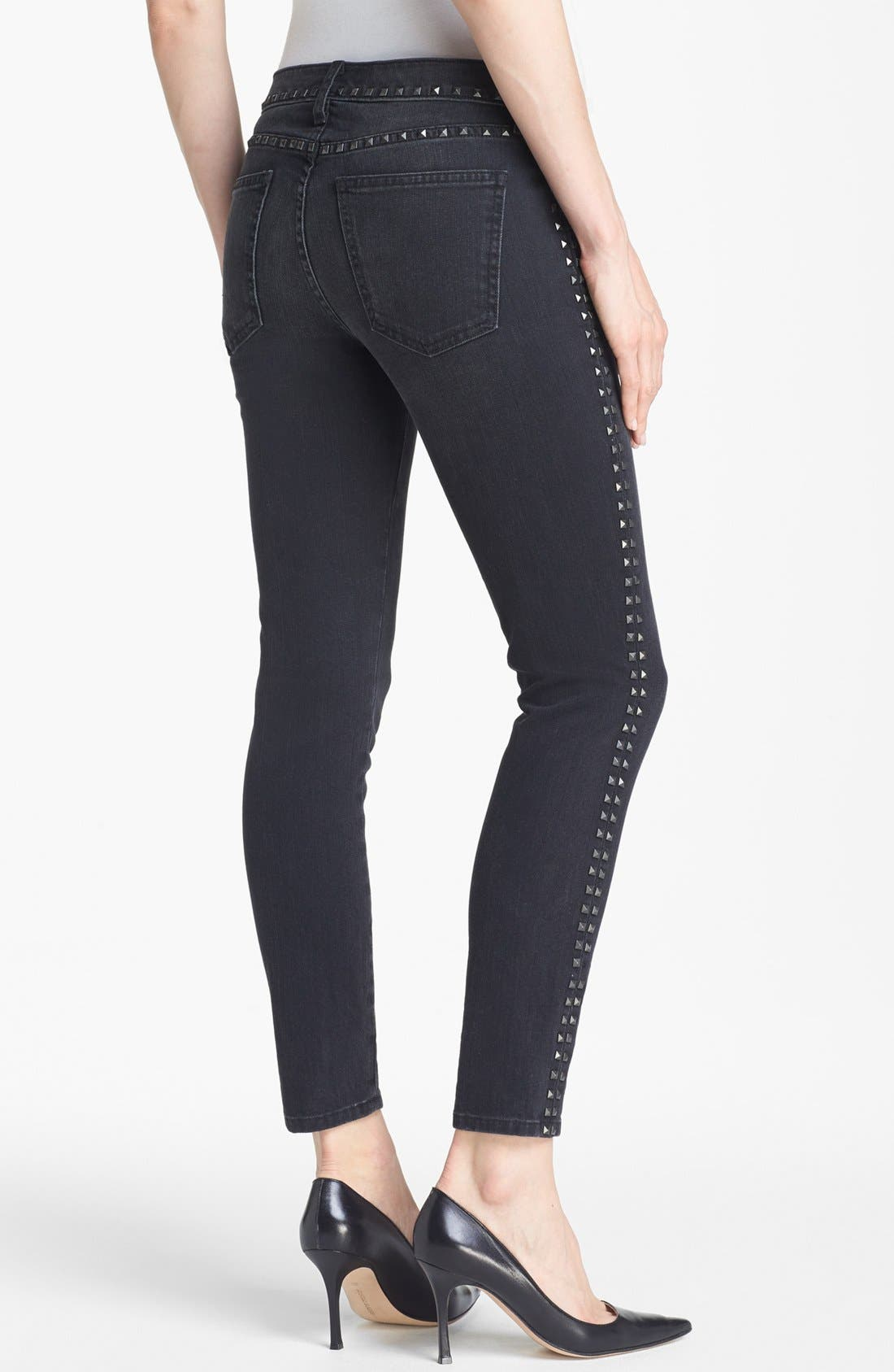 Alternate Image 2  - Current/Elliott 'The Crop Skinny' Studded Jeans