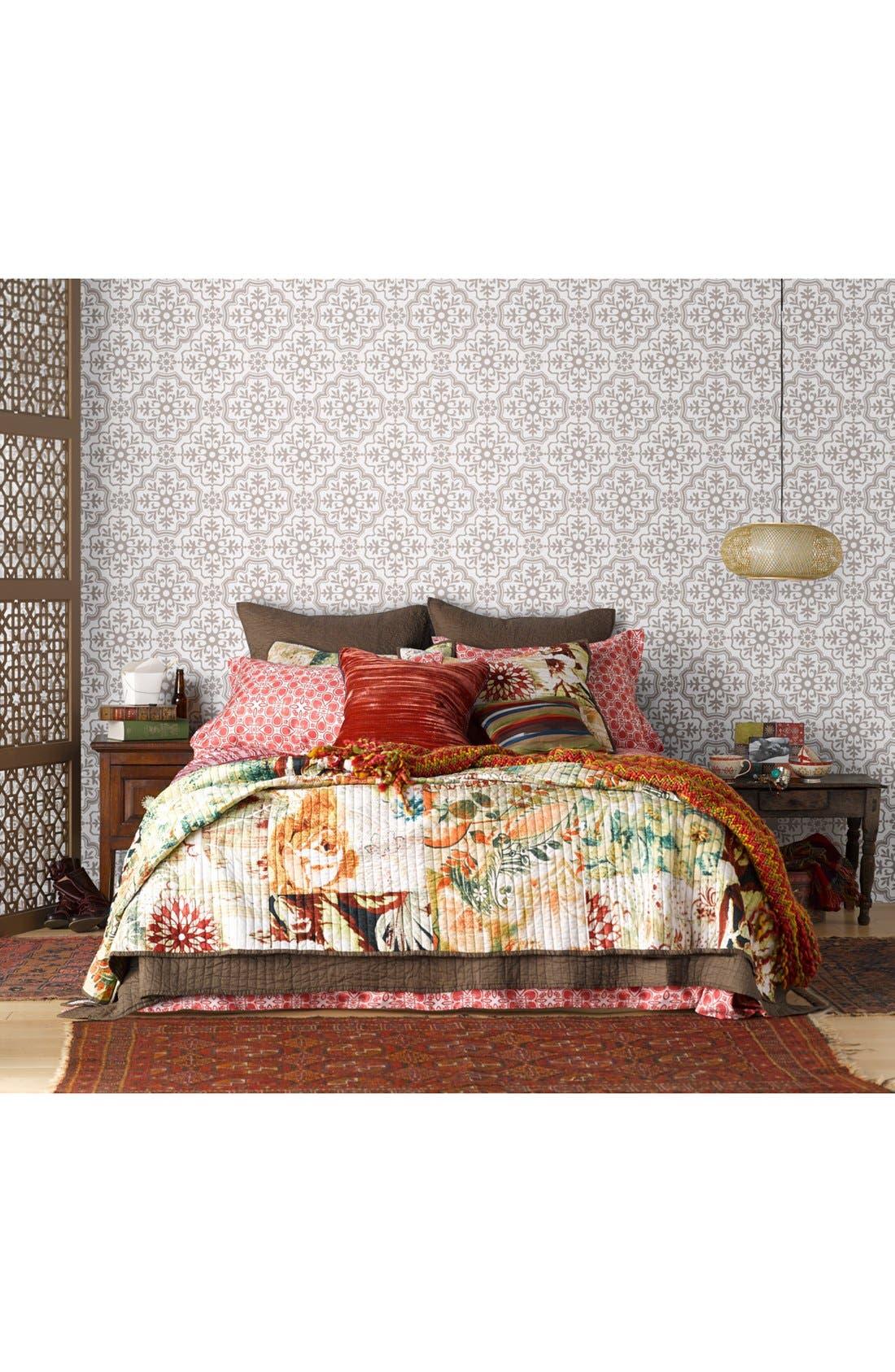 Alternate Image 2  - Tracy Porter® For Poetic Wanderlust® 'Coral' Velvet Pillow