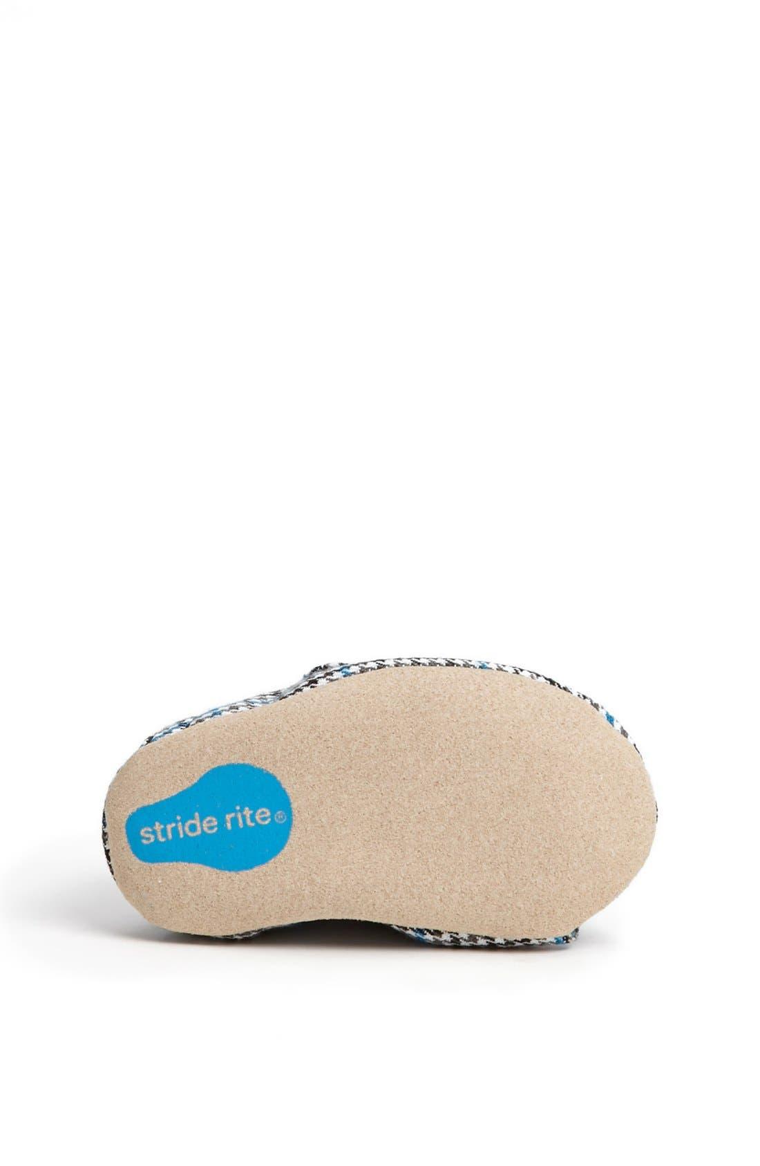 Alternate Image 4  - Stride Rite 'Hip Houndstooth' Crib Shoe (Baby Boys)