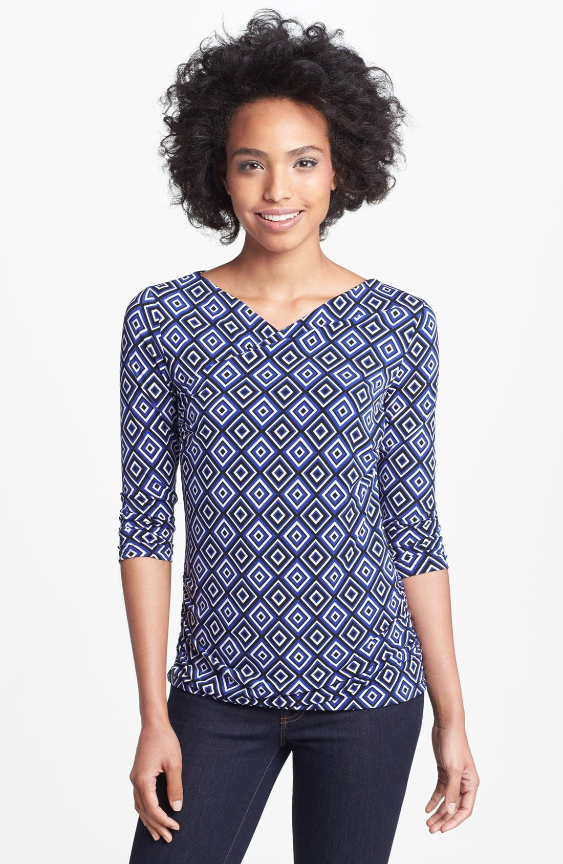 Alternate Image 1 Selected - Vince Camuto High Wrap Side Ruched Top (Online Only)